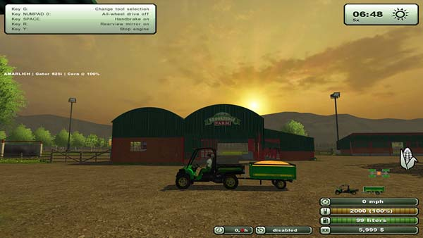 John Deere Gator 825i with Trailer