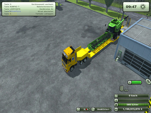 Low loader with tractor