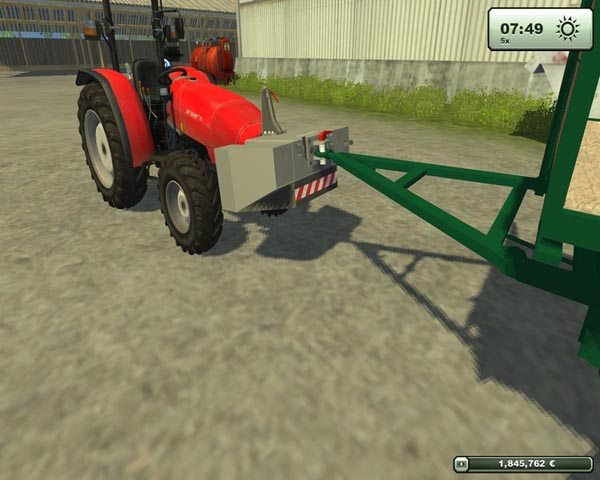1200 KG Fendt front and rear weight