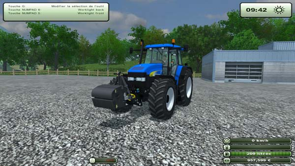 New Holland 990 kg extra weight