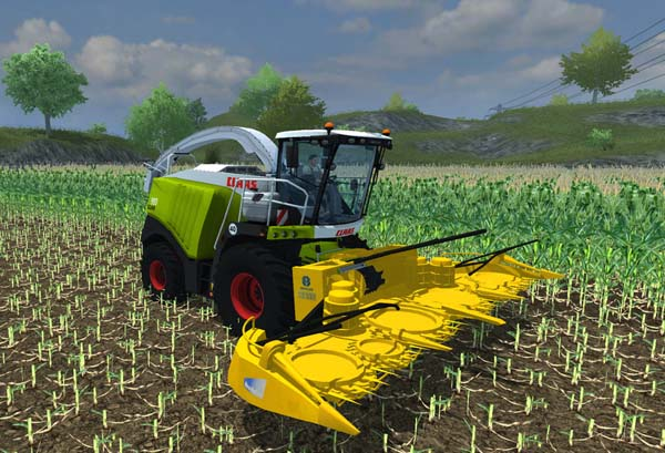 New Holland maize header