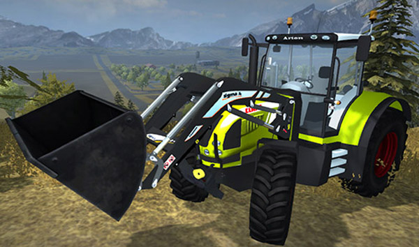 Claas Arion with Sigma4 Frontloade