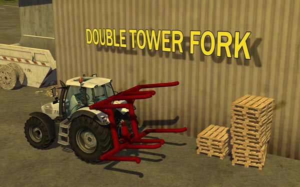 Double bale fork tower