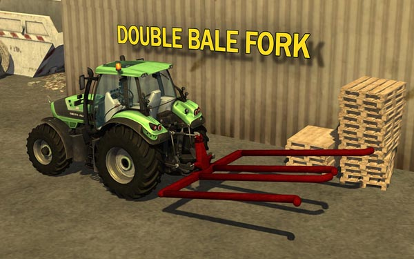 Double bale fork