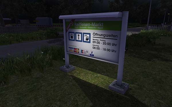 Advertising sign including PSD
