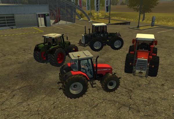 Straight Pipe Tractors Pack
