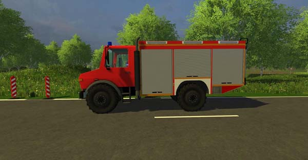Unimog rescue vehicle