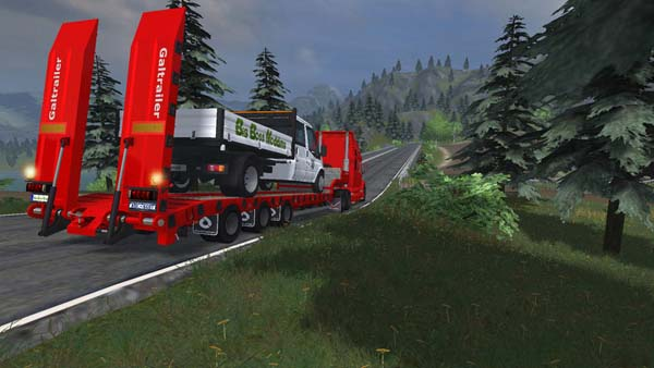 Low Loader Galtrailer Red