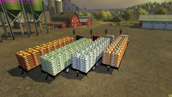 Flatebed Refillable Seed Trailer