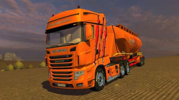 Scania R700 Evo Cedric Transports Edition + Trailer