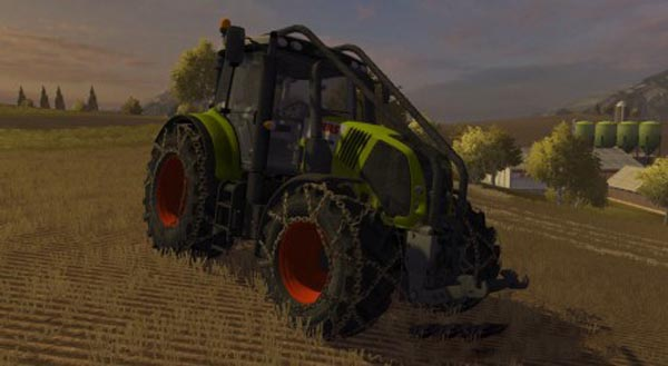 Claas Axion 850 Forest Edition