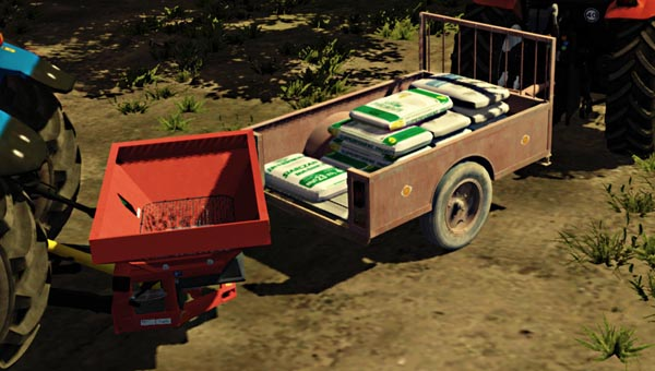 Small seeds and fertilizer trailer