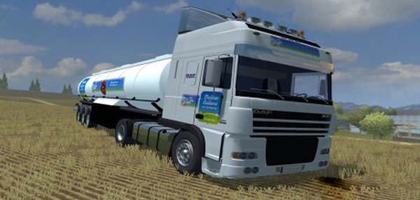 DAF XF Maitres Laitiers Edition + Trailer