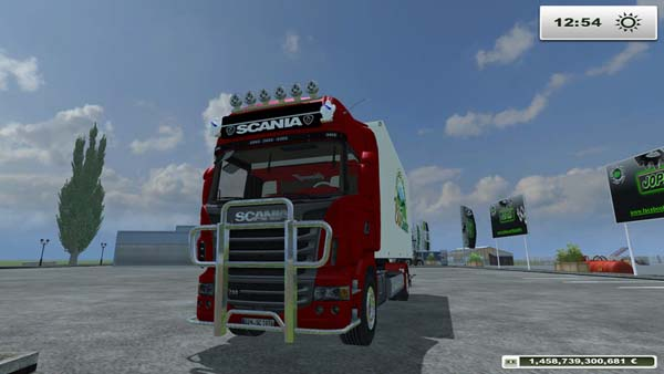Scania R730 with cooling structure