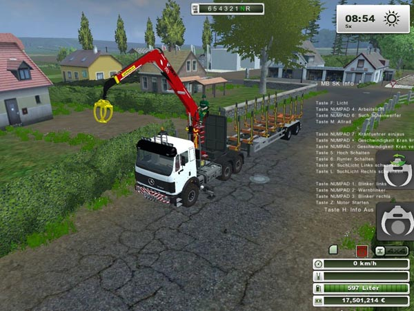 Mercedes Benz SK 2653 timber loader