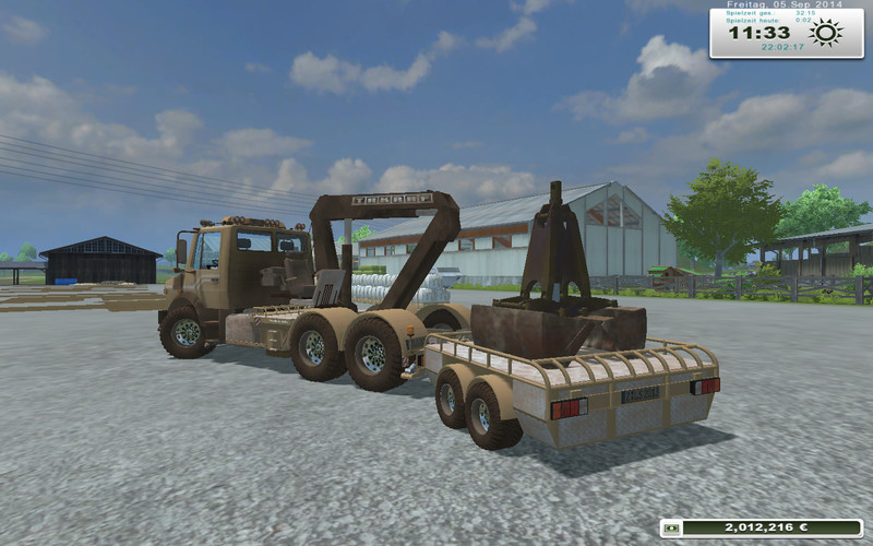 Unimog crane devices Trailer