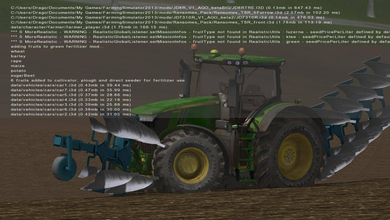 John Deere 7310R V 2.1 double wheels
